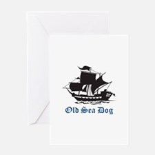 OLD SEA DOG Greeting Cards