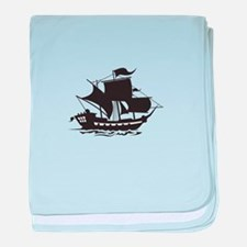 PIRATE SHIP baby blanket