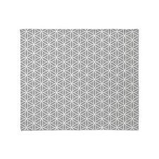 Flower of Life Ptn Wt/Grey Throw Blanket