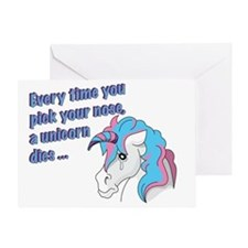 Sad Unicorn Greeting Card