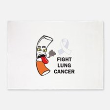 FIGHT LUNG CANCER 5'x7'Area Rug