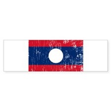 Vintage Laos Bumper Bumper Sticker