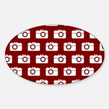 Red and White Camera Illustration P Decal