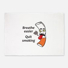 QUIT SMOKING 5'x7'Area Rug