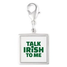 Talk Irish to me Silver Square Charm