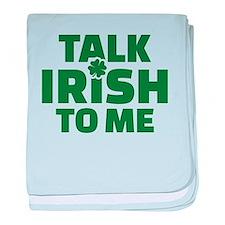 Talk Irish to me baby blanket