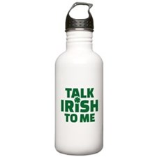 Talk Irish to me Water Bottle
