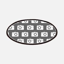 Gray and White Camera Illustration Pattern Patches