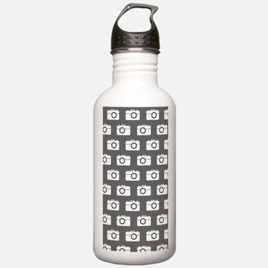 Gray and White Camera Water Bottle