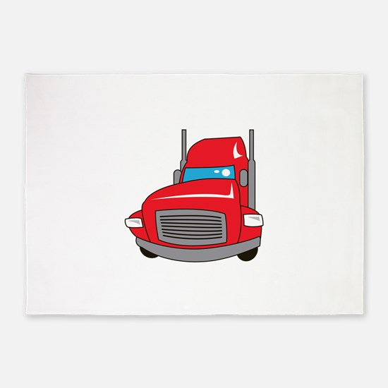 TRUCK FRONT 5'x7'Area Rug