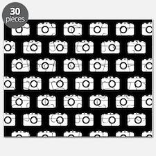 Black and White Camera Illustration Pattern Puzzle