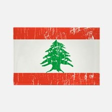 Vintage Lebanon Rectangle Magnet