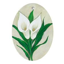 Calla Lilies Ornament (Oval)