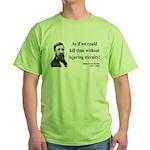 Henry David Thoreau 17 Green T-Shirt