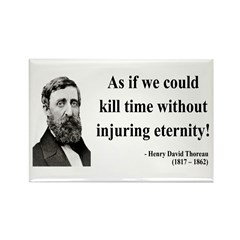 Henry David Thoreau 17 Rectangle Magnet (100 pack)