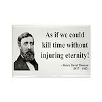 Henry David Thoreau 17 Rectangle Magnet (10 pack)