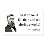 Henry David Thoreau 17 Rectangle Sticker