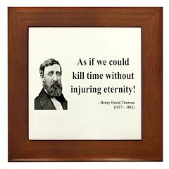 Henry David Thoreau 17 Framed Tile