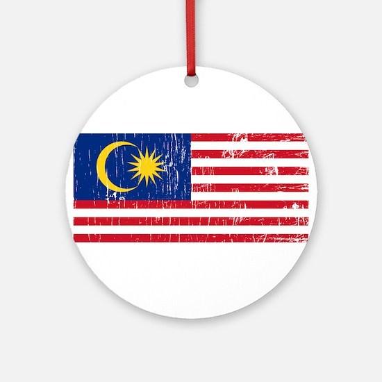 Vintage Malaysia Ornament (Round)