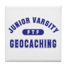 """Junior Varsity Geocaching"" Tile Coaster"