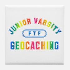 """Junior Varsity Geocaching"" Tile Coaster"