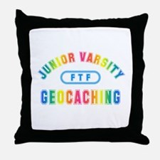 """Junior Varsity Geocaching"" Throw Pillow"