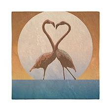 Flamingos Queen Duvet