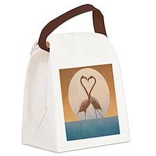 Flamingos Canvas Lunch Bag
