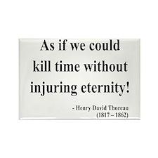 Henry David Thoreau 17 Rectangle Magnet