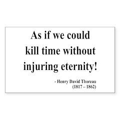 Henry David Thoreau 17 Rectangle Decal