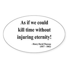 Henry David Thoreau 17 Oval Decal