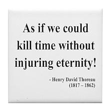 Henry David Thoreau 17 Tile Coaster