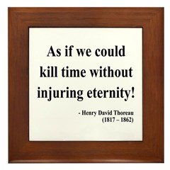 Henry David Thoreau 17 Framed Tile