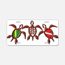 Dive Turtle Band Aluminum License Plate