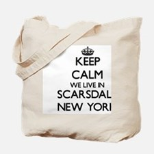 Keep calm we live in Scarsdale New York Tote Bag