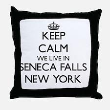 Keep calm we live in Seneca Falls New Throw Pillow