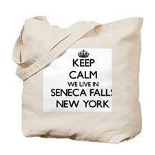 Keep calm we live in Seneca Falls New Yor Tote Bag