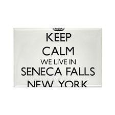 Keep calm we live in Seneca Falls New York Magnets
