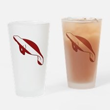 Manatee Dive Drinking Glass