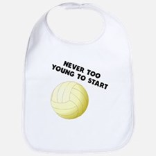Never Too Young To Start Volleyball Bib