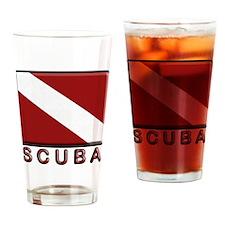 S C U B A Dive Flag Drinking Glass