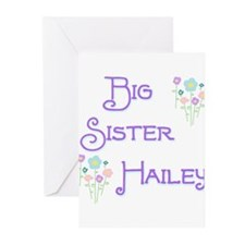 Big Sister Hailey Greeting Cards (Pk of 10)