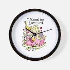 I Found My Lovebird Wall Clock