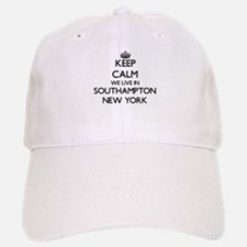Keep calm we live in Southampton New York Baseball Baseball Cap