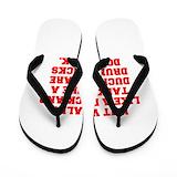 Funny duck Flip Flops