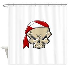 Skull Diver 2 Shower Curtain