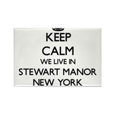 Keep calm we live in Stewart Manor New Yor Magnets