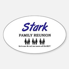 Stark Family Reunion Oval Decal