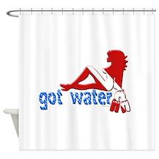 Got Water.png Shower Curtain