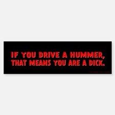 Red Hummer Bumper Bumper Sticker